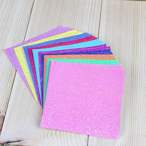 50 stks/set Vierkante Origami Papier Single Side Shining Vouwen Effen Papieren Kids Handgemaakte DIY Scrapbooking Craft Decoratie, 7x7 cm 50 stks