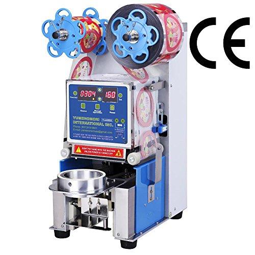 Yumenomori Automatic Tabletop Sealing Machine | Model: YI-AS-999 | Sealing Range: 95mm | UL-Certified | Yumenomori International Inc. | Bubble Tea Equipment and Supplies