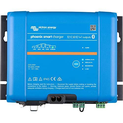 Cargador de batería Victron Phoenix Smart IP43, 12/30 (1+1), 12 V, 30 A, Bluetooth, incluye