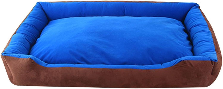 Four Seasons Universal Dog Mat Pet Sleeping Pad Large Dog Pet Mat Pet Bed Pet Sofa Bite Resistance Washable Pet Supplies Cat Nest Rest mat (color   bluee, Size   60  90CM)