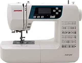 Janome 3160QDC Computerized Sewing Machine w/Hard Cover + Extension Table + Quilt Kit + 1/4 Seam Foot w/Guide + Overedge F...