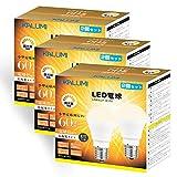 OKALUMI LED電球 調光器対応 E17口金 電球 60W形相当 電球色 2700k 580lm 広配光 小形電球タイプ (ミニクリプトン・ミニランプ形) 6個入り【改良モデル】