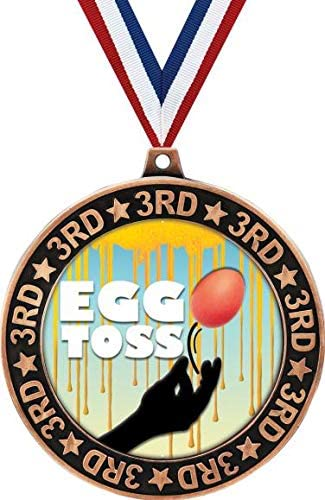 Egg Toss Sale Special Price 3rd Place Perimeter Prizes Medal 2.75