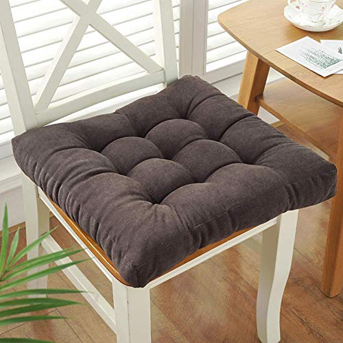 N / A Chair Of Solid Color Velvet Pillow With The Ties, Thicken Square Seat Cushion Cotton Office chair seat pads From To Outside, Soft On No-slip cushion seat for Dining Chair