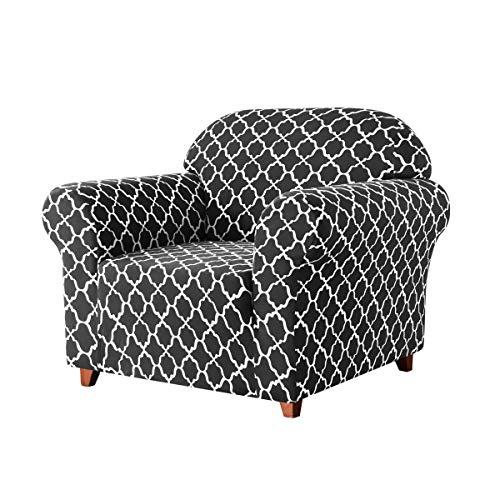 Subrtex Sofabezug mit Muster Stretch Sofahusse Elastisch Sesselhusse mit Armlehne Couch überzug...
