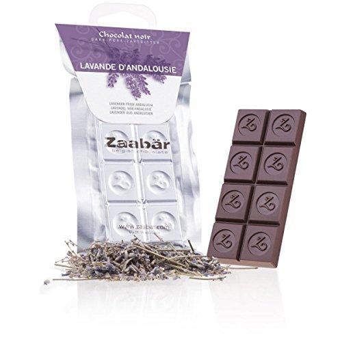 Zaabär Mono - Lavande d'Andalousie - Zartbitterschokolade mit Lavendel aus Andalusien, belgische Schokolade