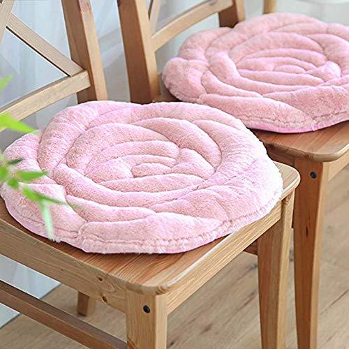 Cojín redondo suave para silla, cojín para silla de cocina, comedor, sofá, sillones, silla de ruedas, respaldo de silla de ruedas, decoración de oficina, hogar, color rosa