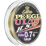 サンライン(SUNLINE) PEライン ソルティメイト PEエギ ULT HS8 240m 0.5号 3.9kg 8本 ホワイト・ピンク・ライトグリーン