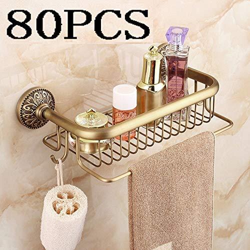 Modenny Massivem Messing Bad Eckregal Regale Europa Antike Einzelschicht Organizer Dusche Caddy Lagerregal Wand WC Shampoo Kosmetik Ablagekorb (Größe : Diameter: 30cm)