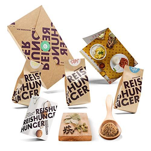 Reishunger Indisch Dal Box (6-teilig, bis zu 4 Personen) Original Zutaten für 2 Original Dal Gerichte – Perfekt auch als Geschenk