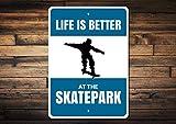Skatepark Sign, Skateboarder Gift, Skateboard Sign, Skatepark Decor, Skater Sign, Skater Gift, Skateboarder Sign, Skate Park, Quality Metal, Aluminum Tin Plaque Wall Art Poster 12