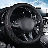2012 Acura TSX A/C & Heating Parts - ZHOL Universal 15 inch Steering Wheel Cover Microfiber Leather and Viscose, Breathable, Anti-Slip, Odorless, Warm in Winter and Cool in Summer, Black