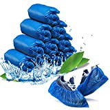 Thougrlyh Disposable Shoe Covers 100pack (50pairs) Shoe Covers Disposable Non Slip, Waterproof Shoe Covers Used For Carpet Protector Shoe Protector,Disposable Shoe Covers For Indoors Fits All…