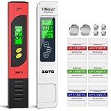 Medidor pH, ZOTO PH Medidor con Medidor TDS EC Temperatura 4 en 1 con LCD, PH Tester Compensación de Temperatura pH Medida de 0-14 pH, Calibración Automática para Piscina, Laboratorio