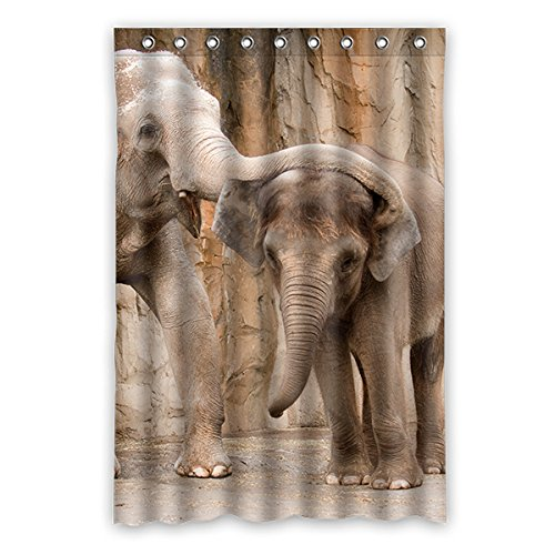 Once Young Verspielt Elefanten Wasserdichtes Badezimmer Polyester Duschvorhang Badezimmer Dekorative 48