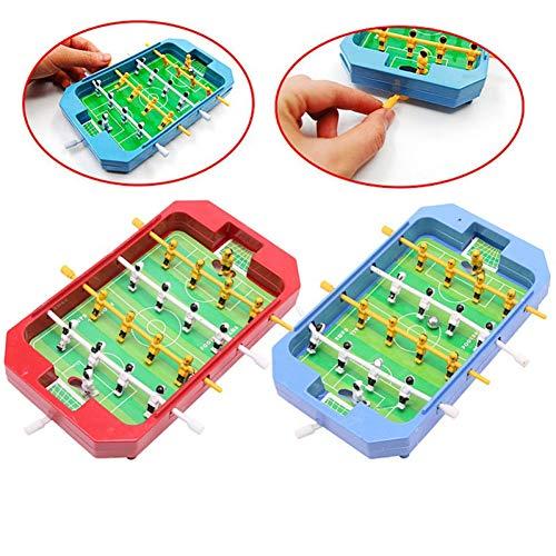 QIUXIANG-EU Mini Tischplatte Fußball Tischfußball Brettspiel Heimspiel Geschenk Spielzeug Tischfußball Farbe Zufällig
