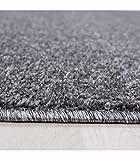 Teppich Kurzflor Modern Wohnzimmer Einfarbig Meliert Uni günstig Versch. Farben - Grau, 140x200 cm - 3