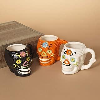 Day of the Dead Sugar Skulls Ceramic Mugs - Set of 3
