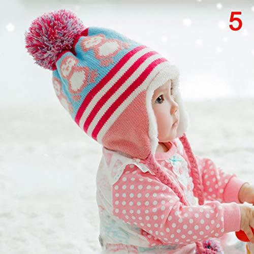 Giytoo kleine kinderen jongens meisjes winter warm gebreid haakwerk Earflap beanie muts pet wol schattige pinguïn