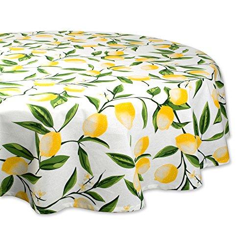 DII Mantel para Cena de Fiesta, Lemon Bliss, Redondo de 177.8 cm, 1, 1