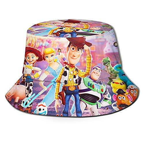 Sombrero de Pescador Gorro de Pescador Transpirable con Parte Superior Plana Unisex Toy Story Sombrero de Pescador al Aire Libre Anti-Ultravioleta de Verano