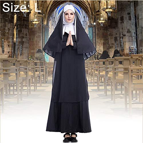 Zhouzl Hogar & Jardn Disfraz de Halloween Mujer Monja misionero Cosplay Ropa Hogar & Jardn (Color : Color3)