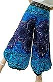 【全30カラー】アラジンパンツ タイパンツ サルエルパンツ アジアン エスニックパンツ (青紺) ②