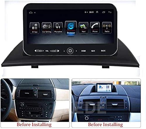 N/Z Inicio Equipos Estéreo para automóvil para BMW X3 E83 2004-2012 Radio Multimedia de 10.25 Pulgadas Android 9.1 Soporte 7 Luces/Bluetooth/Cámara Trasera/Carplay/OBD 4G 64G