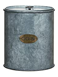Galvanized Can Coin Bank on amazon
