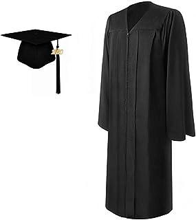 2020 Matte Adult Graduation Gown Cap Tassel Set