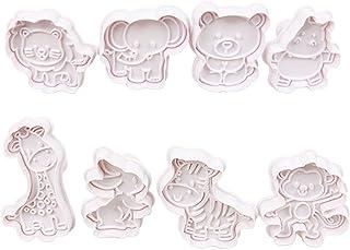 Ensemble de coupe-biscuits, 3D animaux emporte-pièces timbre piston presse Biscuit moule en plastique Biscuit pâtisserie d...