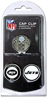 Team Golf NFL Golf Cap Clip with 2 Removable Double-Sided Enamel Magnetic Ball Markers, Attaches Easily to Hats