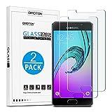 [2 Stück] OMOTON Panzerglas Schutzfolie für Samsung Galaxy A3[2016], 9H Festigkeit, Anti-Kratzen, Anti-Öl, Anti-Bläschen,2.5D