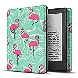 TNP Funda/Estuche para E-Reader, Amazon Kindle de 10a (décima) Generación/Modelo de 2019 - Delgada y Ligera con Función Inteligente de Despertador/Reposo Automático para Pantalla de 6' Flamingo