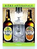 Coffret Bières Artisanales - Coffret 2 Bières + 2 Verres