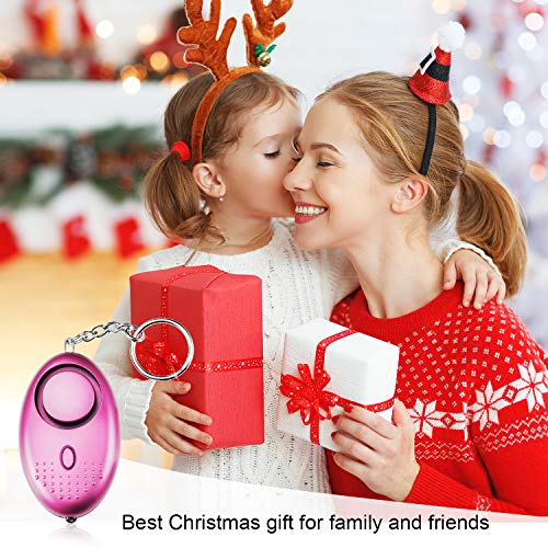 TOODOO 130DB Personal Alarm, 5 Pack Safe Sound Personal Security Alarm Keychain with LED Lights, Emergency Safety Alarm for Women, Kids, Girls, Self Defense Electronic Device as Christmas Gift