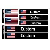 Custom Bicycle Frame Name - 9 Sticker Set with Custom Flag and Name