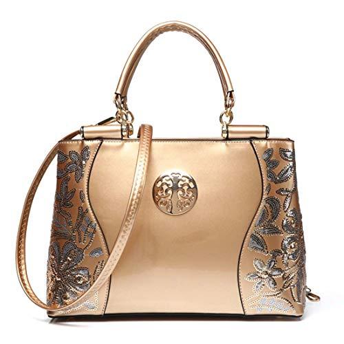 SPFTOY Handtasche Damen Geometrische Tasche Schultertaschen Umhängetaschen Einzigartige Geldbörsen-Gold