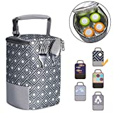 Best Baby Bottle Coolers - Baby Bottle Bag Insulated Breastmilk Cooler Tote Bag Review