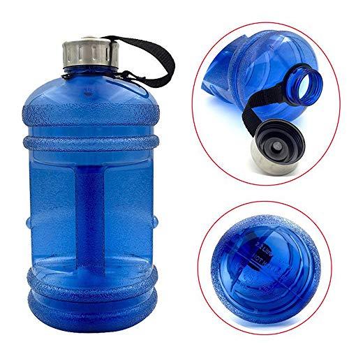 NANE Gourde de Sport 2,2L - sans BPA - Homme Femme adapté à: Gym, régime, Fitness, Sports de Plein air, la randonnée et Le Bureau,Bleu