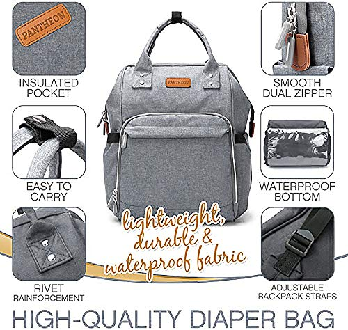 Diaper Bag, Backpack Diaper Bag and Changing Pad Baby Shower Gift...