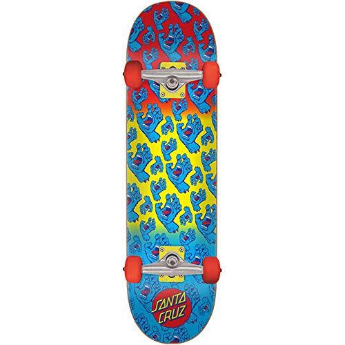 Santa Cruz Complete Skateboard Hands Allover Blue/Red/Yellow 7,8