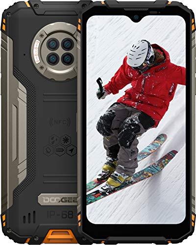 DOOGEE S96 Pro 8GB RAM + 128GB ROM Movil Libre, Cámara Cuádruple 48MP, Visión Nocturna + Frontal 16MP, 6350mAh Smartphone 4G, Android 10, 6.22 Inch, NFC, GPS, IP68 IP69K Móvil Resistente, Naranja