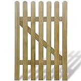 Materiale: Legno di pino impregnato Resistente alla muffa Dimensione totale: 100 x 150 cm (L x A) Nota: Questo cancello per giardino è fornito in parti. Il montaggio è facile. Cardini e serrature non sono inclusi