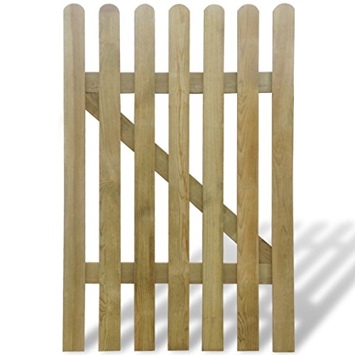 vidaXL Holz Imprägniert Gartentor 100x150cm Holztor Lattenzaun Zauntür Pforte