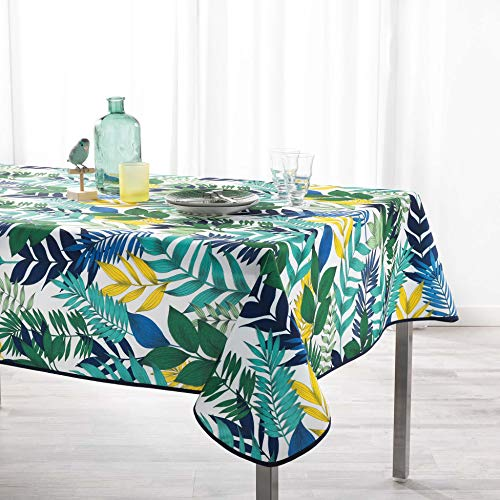 TIENDA EURASIA® Manteles Antimanchas - Diseños Tropicales Originales - Mantel Rectangular 150 x 240 cm - 100% Polyester Lavable (A, 150 x 240 cm)