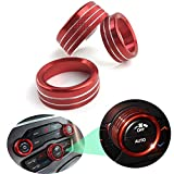 Lanyun for Dodge Challenger Charger Durango Accessories Air Conditioner Switch CD Button Knob Aluminum Alloy Interior Decoration Cover fit 2015-2020 Dodge Challenger Charger Chrysler 300 red