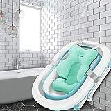 Baby Badewanne Kissen, Schwimmende Anti-Rutsch-Badewanne Kissen Soft Seat Badewanne Unterstützung, Liege Neugeborenen Badewanne Luftkissen für Neugeborene 0-6 Monate