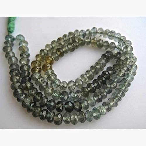 specialty shop LKBEADS 10 Strands Moss Aquamarine Beads Genuine Rondelle Faceted