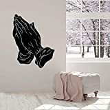 Tianpengyuanshuai Living Room Prayer Wall Sticker Religion Symbol Vinyl Wall Decal Prayer Room Bedroom Large Wall Sticker 48x63cm